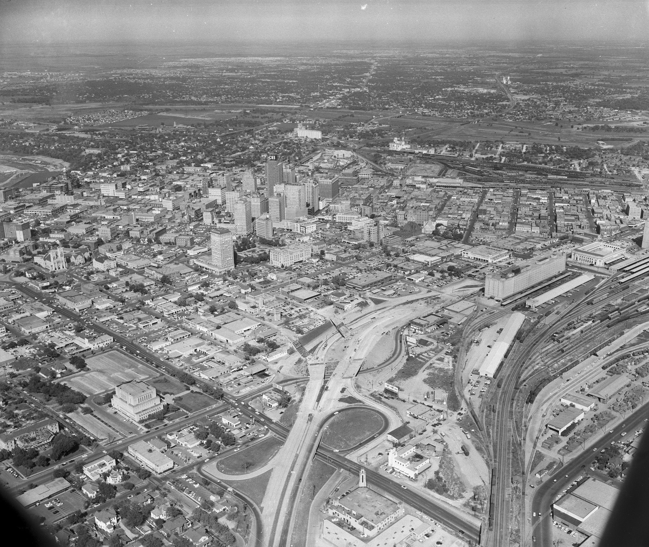 Fort worth looking from southwest to northeast old
