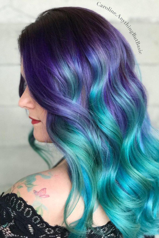 12 Mermaid Hair Ideas That Will Transform You Into A Real Life Ariel Mermaid Hair Color Hair Styles Hair Color Blue