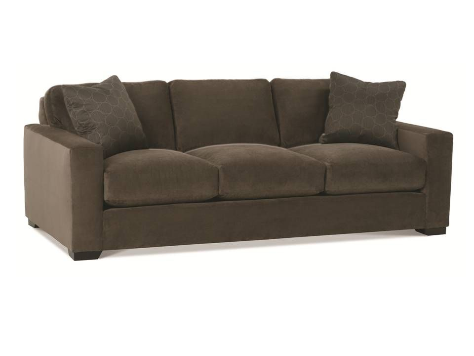 Dakota 3 Seat Sofa Shown In A Plush Deep Brown Velvet