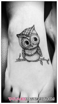 Tatuajes De Buhos Para Mujeres 3 T At Tuajes Pinterest Tattoos