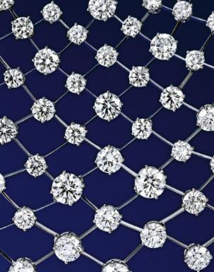 18 Karat White Gold and Diamond 'Constellation' Necklace (detail), Nirav Modi - Photo Sotheby's