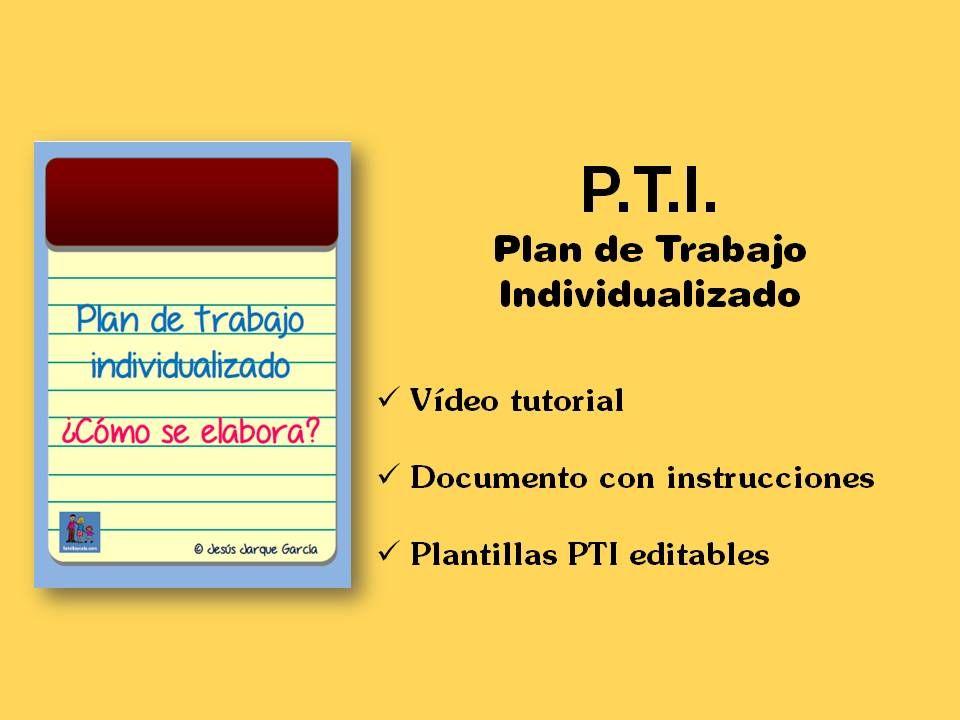 Cómo elaborar un plan de trabajo individualizado: vídeo tutorial ...