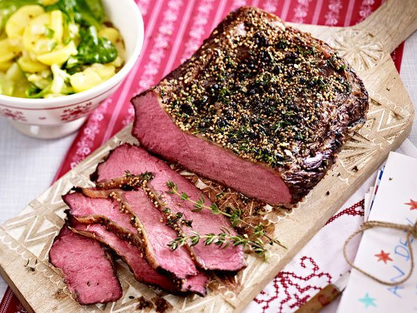 weihnachtsessen mit fleisch meine lieblingsrezepte pinterest fleisch roastbeef und kartoffel. Black Bedroom Furniture Sets. Home Design Ideas