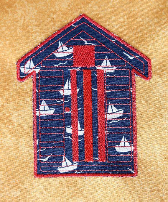 Beach Hut Machine Embroidery Design: Instant Download Machine