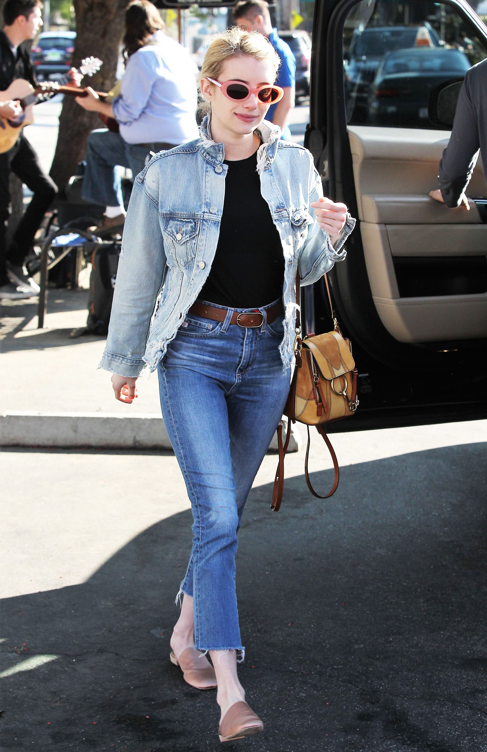 Fashion week Get the celebs look in double denim for woman