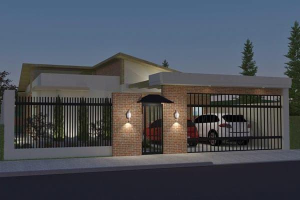 Plano de casa rústica - Planos de Casas, Modelos de Casas e Mansiones e Fachadas de Casas