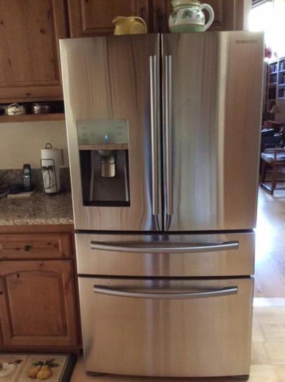 Samsung 226 Cu Ft 4 Door French Door Refrigerator In Stainless