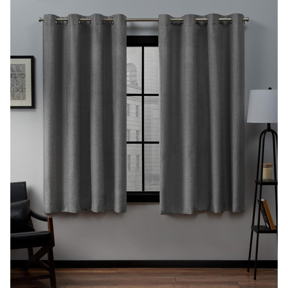 Exclusive Home Curtains Loha 54 In W X 63 In L Linen Blend