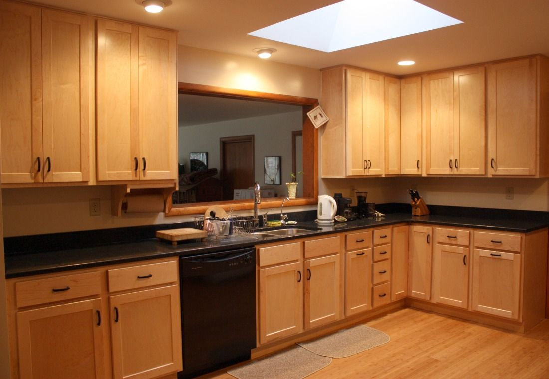 Natural Maple Cabinets | Home kitchens, Maple cabinets ...