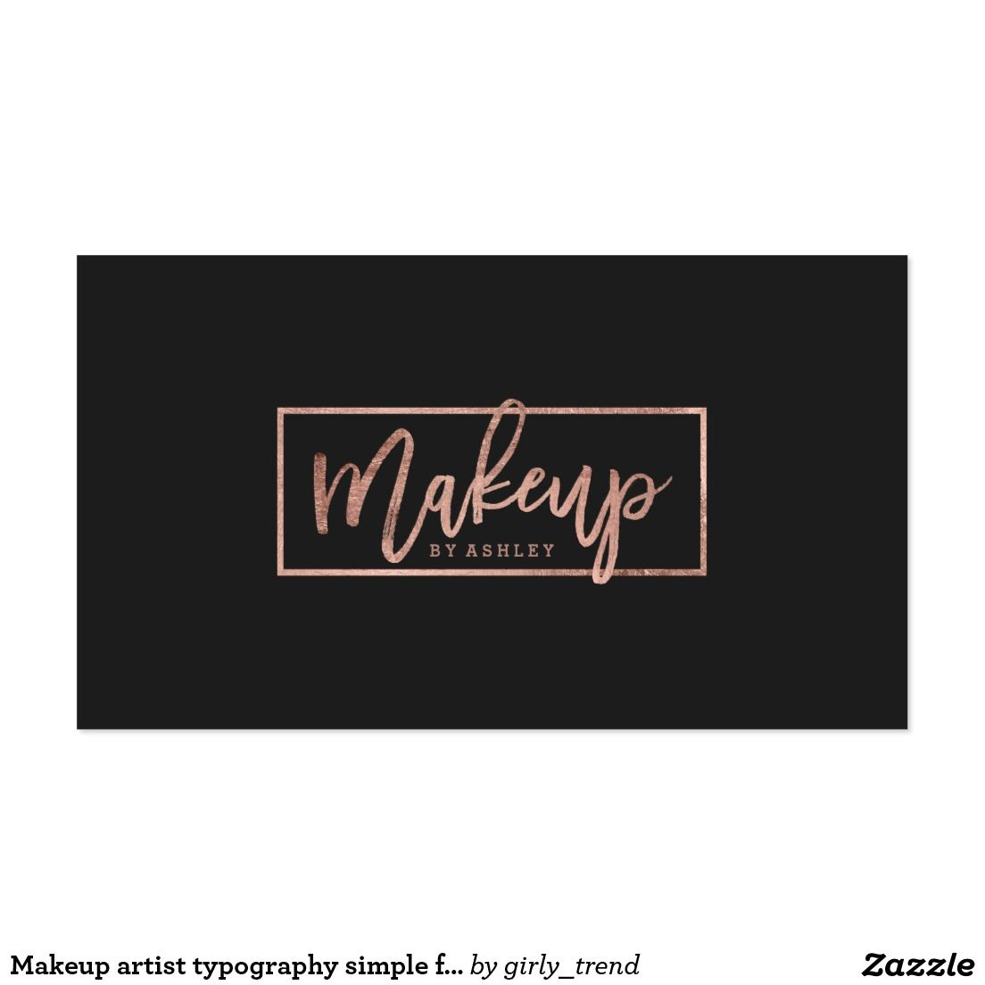 Makeup artist typography simple faux rose gold business card makeup artist typography simple faux rose gold business card magicingreecefo Gallery