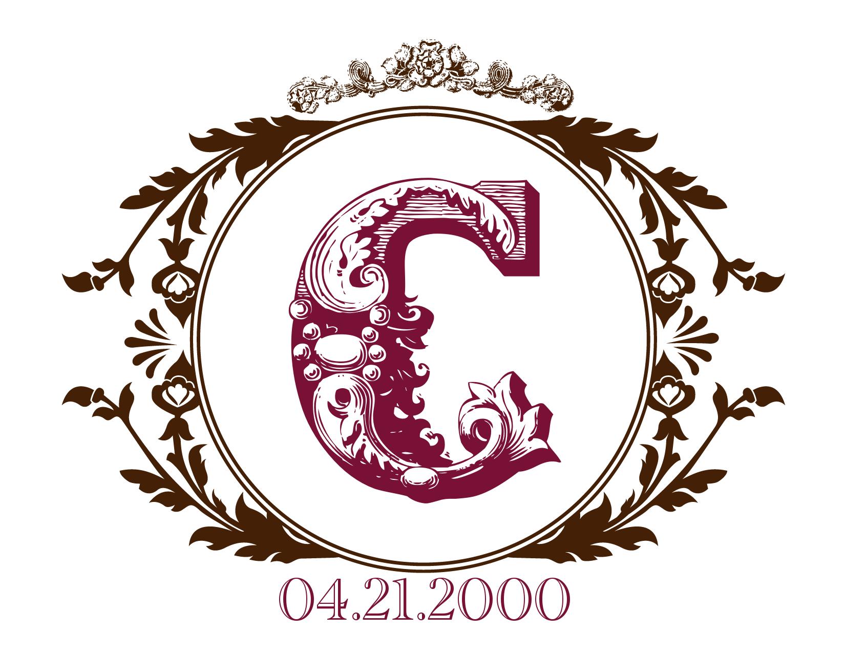 wedding date monogram- FREE!! | CRAFT: things to print /fonts ...