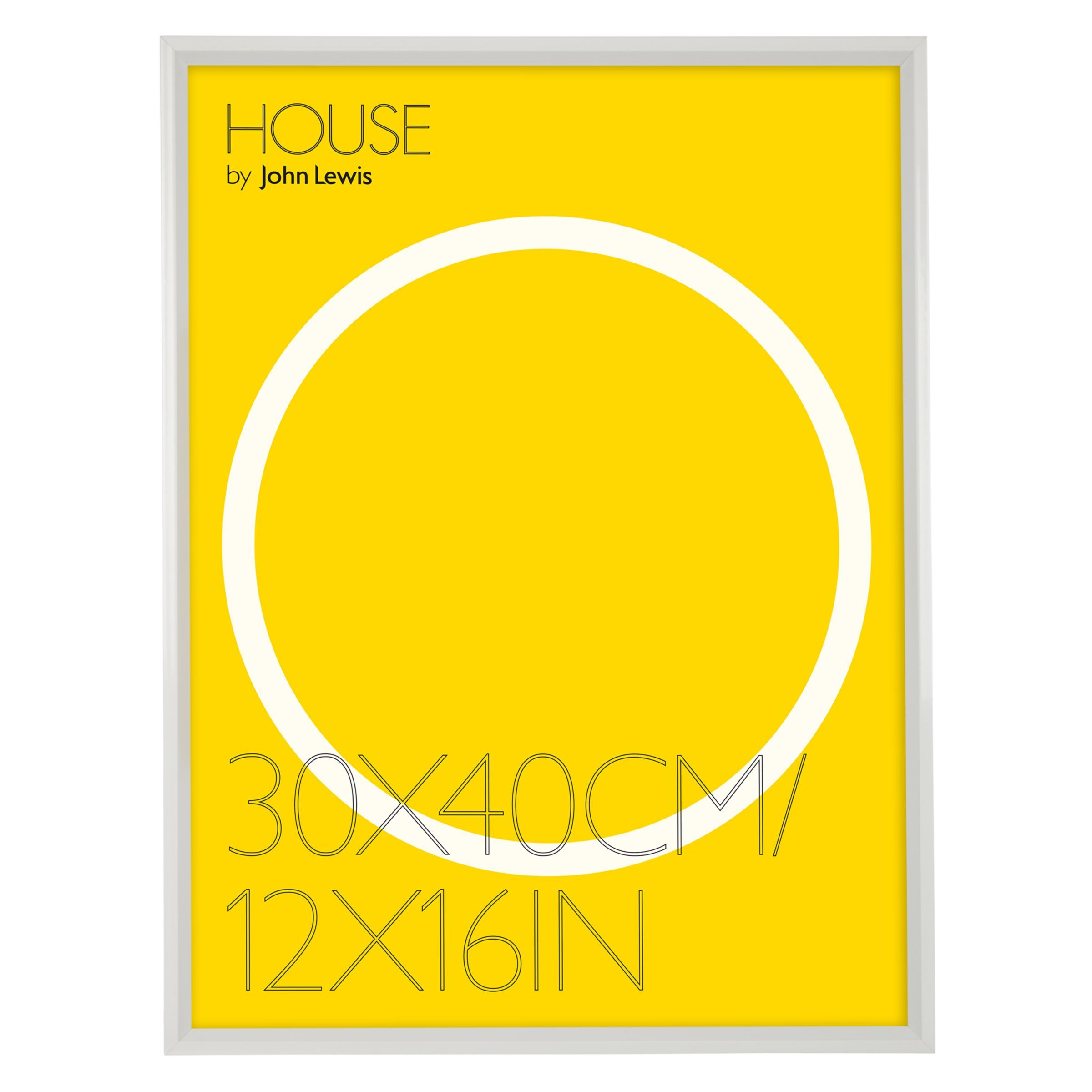 House By John Lewis Aluminium Photo Frame 12 X 16 30 X 40cm Acrylic Picture Frames Picture Frames Image House