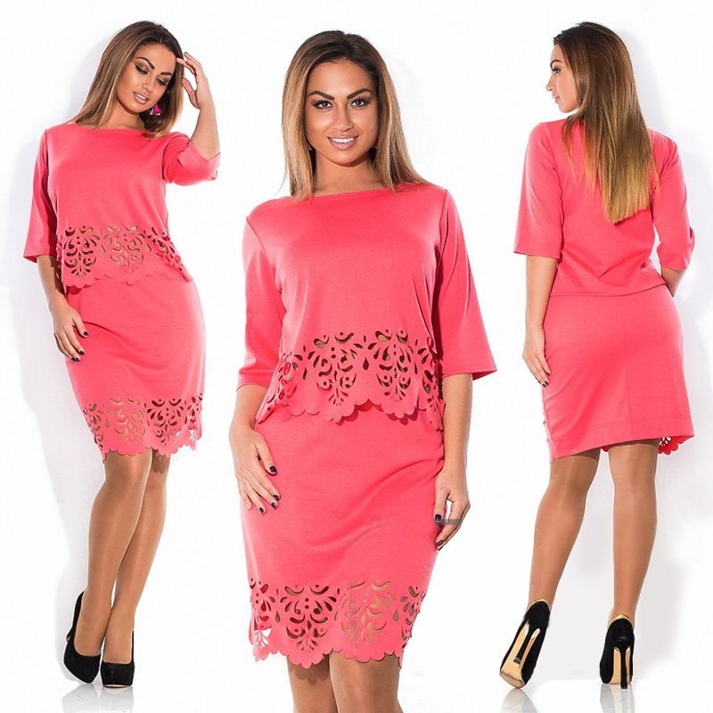 elegant 2 piece set summer women dresses big size new 2017 plus