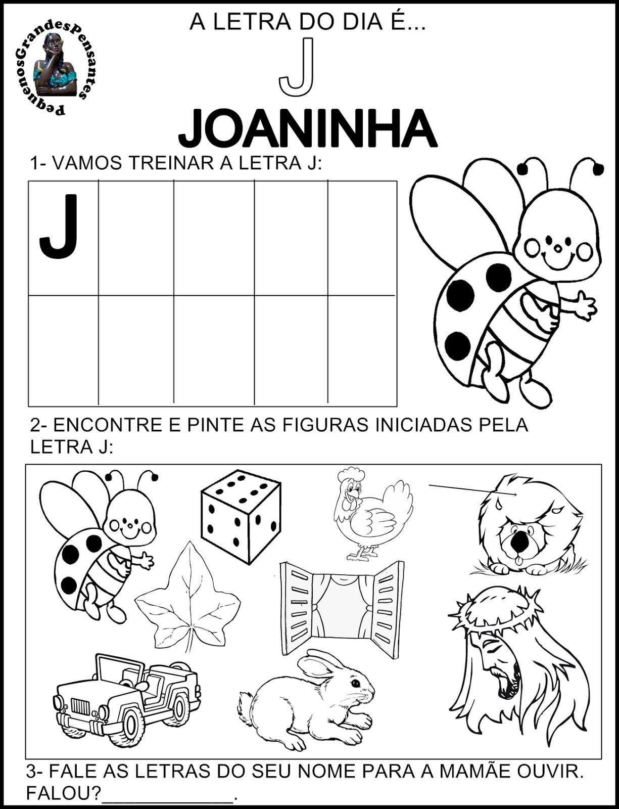 Atividades Inéditas - Família Silábica do J. | Regina | Pinterest ...