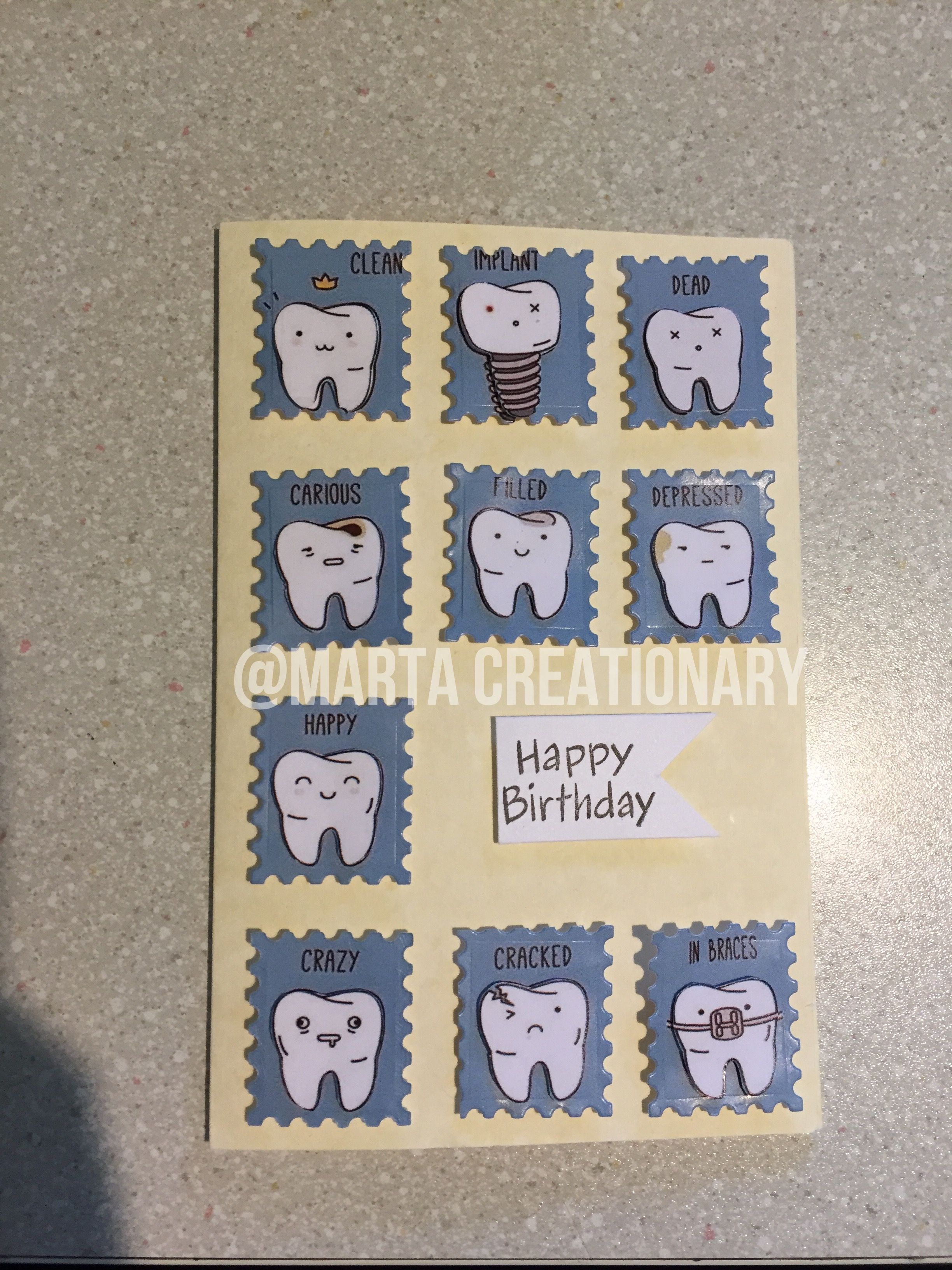Dentist Birthday Card Cartes Danniversaire