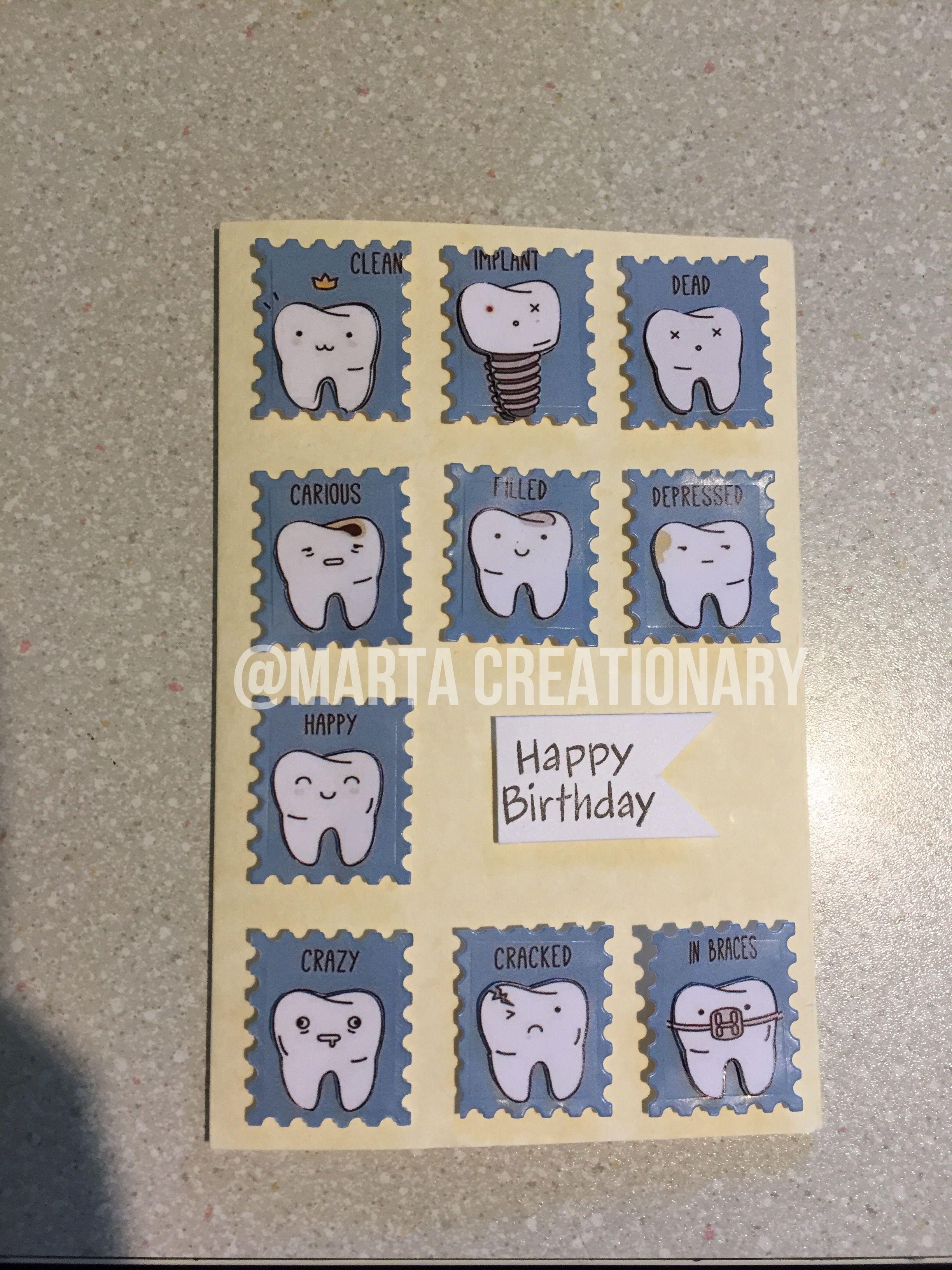 Dentist birthday card scrapbooking birthday card tooths happy – Scrapbooking Birthday Card Ideas