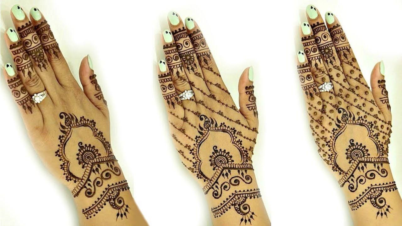 Easy Henna Designs Step By Step For Beginners: Bridal Henna Design For Beginners