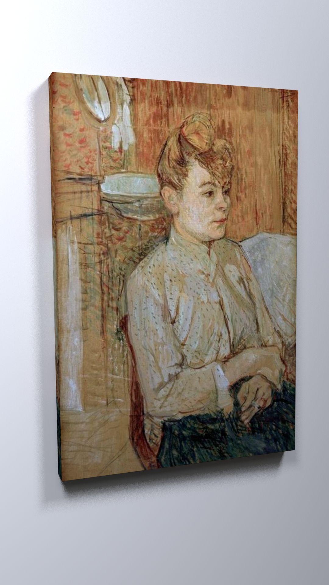 Henri De Toulouse-lautrec, Woman with Cigarette / 1890 #Henri #De #Toulouse-lautrec #weewado #Toulouse-Lautrec #of #woman
