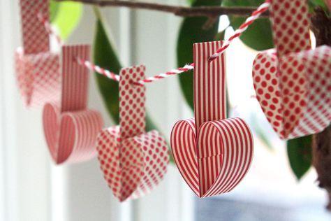 DIY: julehjerter på guirlande - StyleDesignCreate