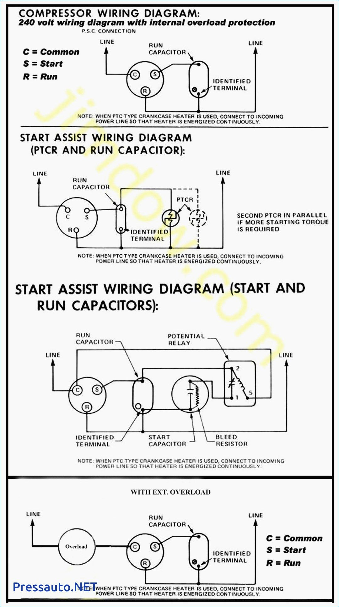 Hard Start Capacitor Wiring Diagram Throughout Starting Refrigeration And Air Conditioning Hvac Air Conditioning Air Conditioner Compressor