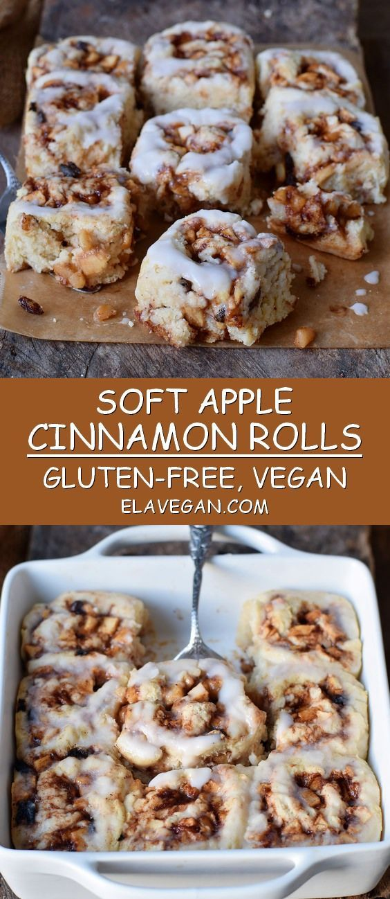 Apple Cinnamon Rolls | vegan, gluten-free recipe - Elavegan