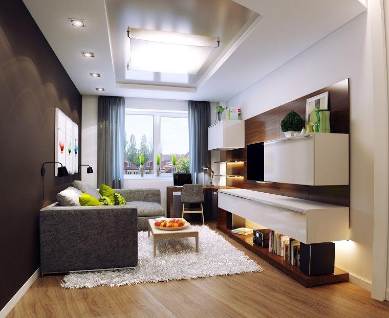 Arredamento soggiorno piccolo illuminazione particolare interior
