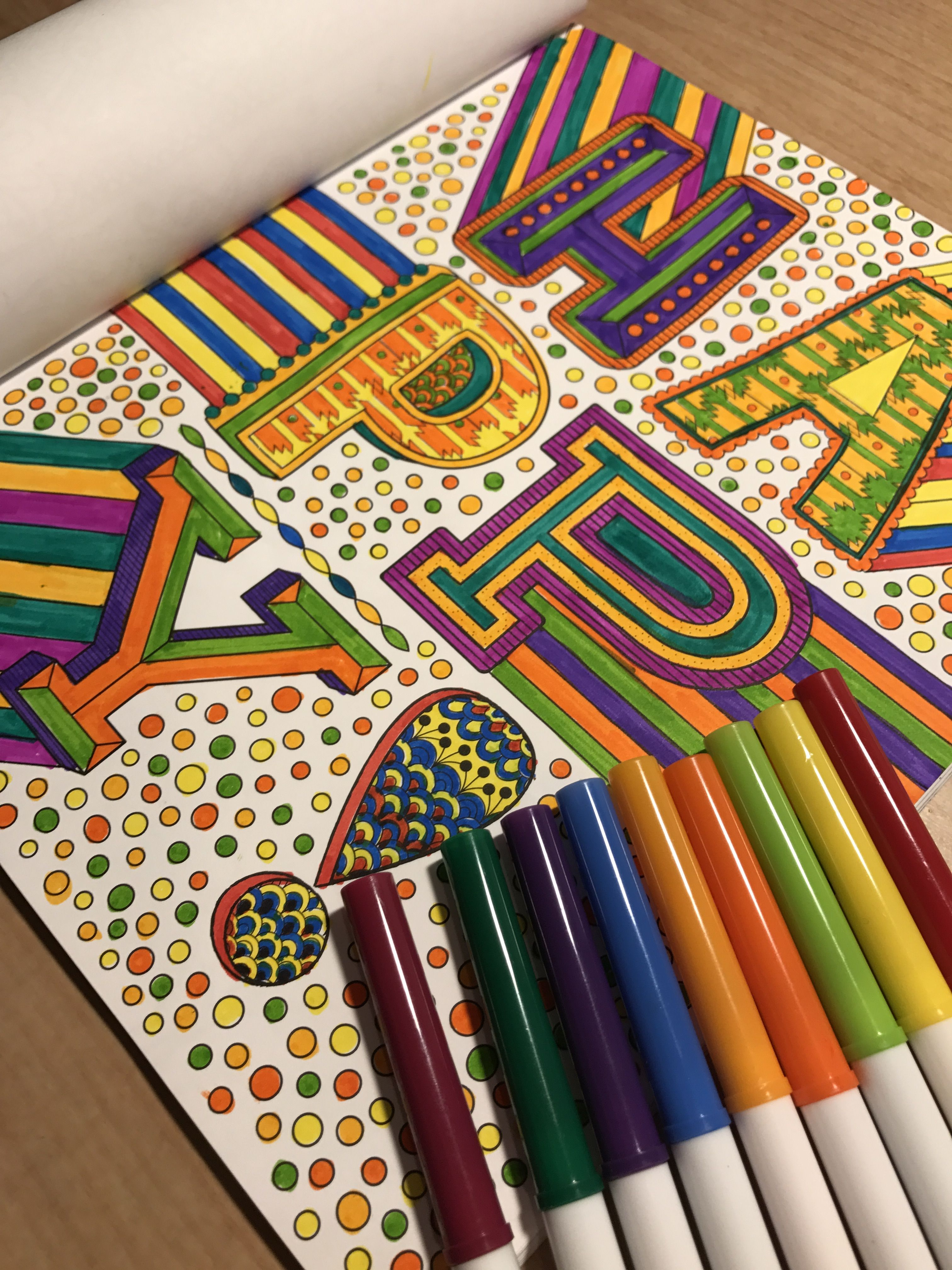 Adult Coloring Book Crayola Inspired Escapes Words And Letters By Hallmark