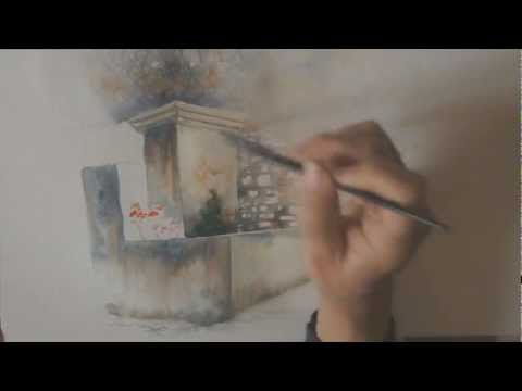 Demo Aquarelle La Fontaine Watercolor Tutorial Youtube