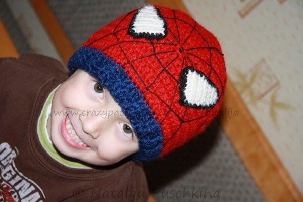 Häkelanleitung: Kindermütze Spiderman | häkeln baby | Pinterest ...