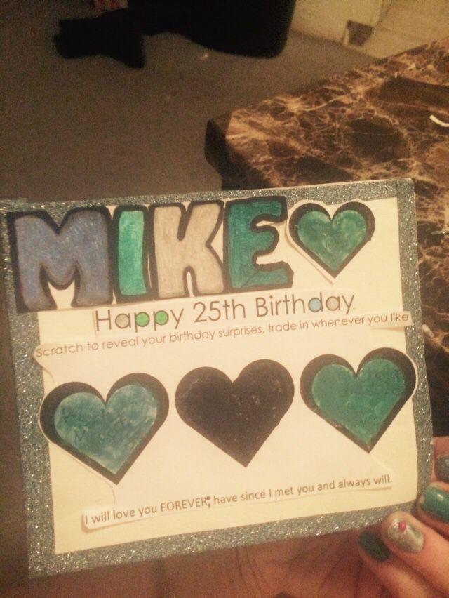 Boyfriends scratch off birthday card :) hand made