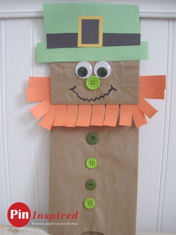 Paper Bag Leprechaun Craft For Kids So Cute And Easy To Do For St