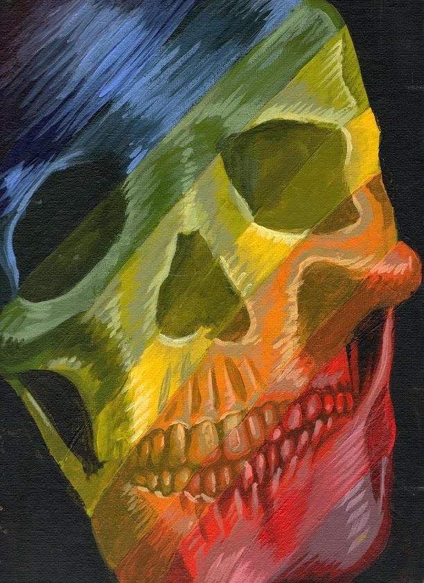 Color Wheel Skull By Will Appledorn