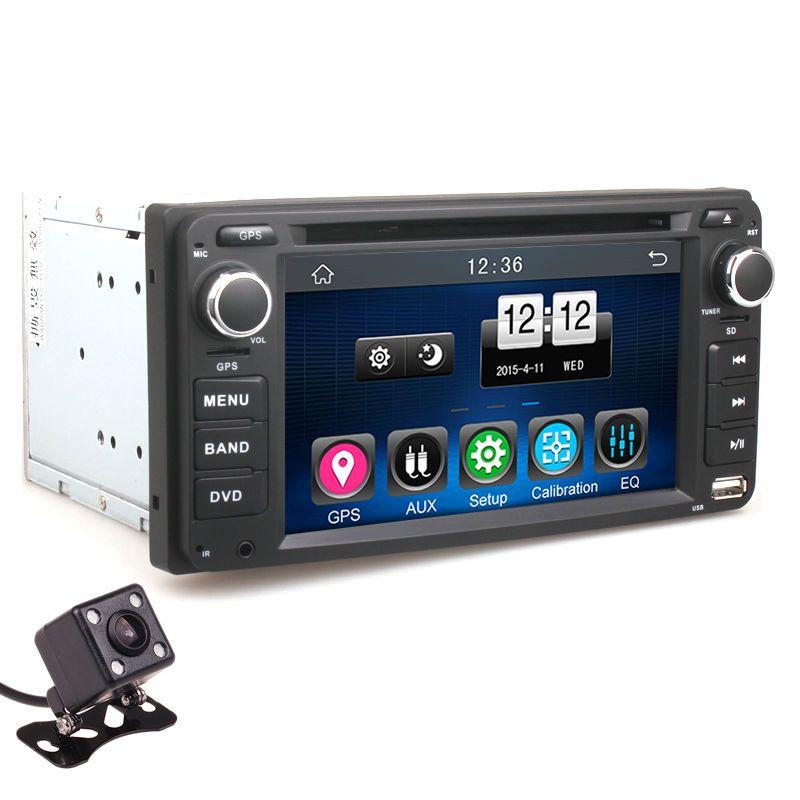 2Din Car Dash DVD Player GPS Radio BT Head Unit Stereos with