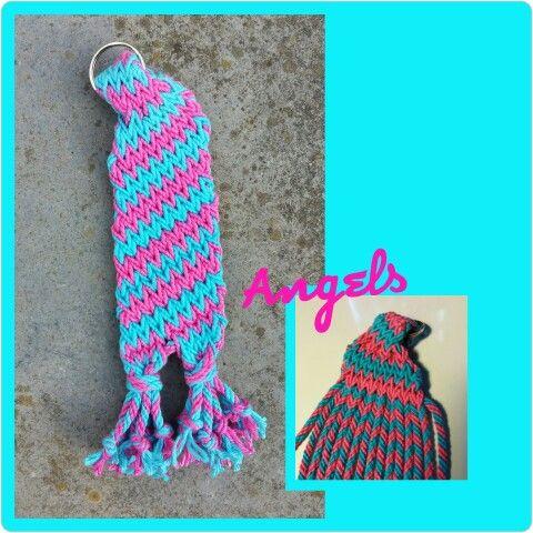 August Challenge Ply Split Brading Key Cord Sock Stripes