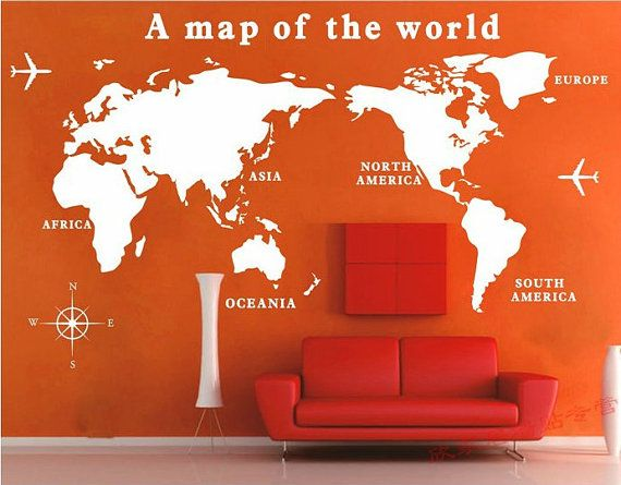Removable vinyl map wall decal tour wall art world wall sticker removable vinyl map wall decal tour wall art world wall sticker travel around the world by customwalldecal gumiabroncs Images