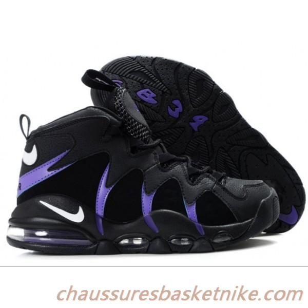 Nike Air Max CB 34 Charles Barkley Chaussures Hommes Noir / Violet / Blanc  Livraison Gratuite