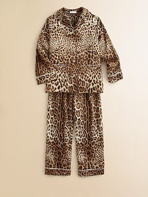 The Ultimate Children S Pjs Dolce Gabbana Girl S Silk Leopard