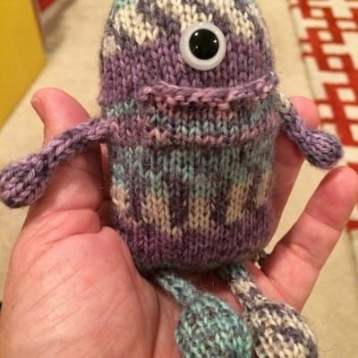 HandKnit Tooth Fairy Monster from Knitables!