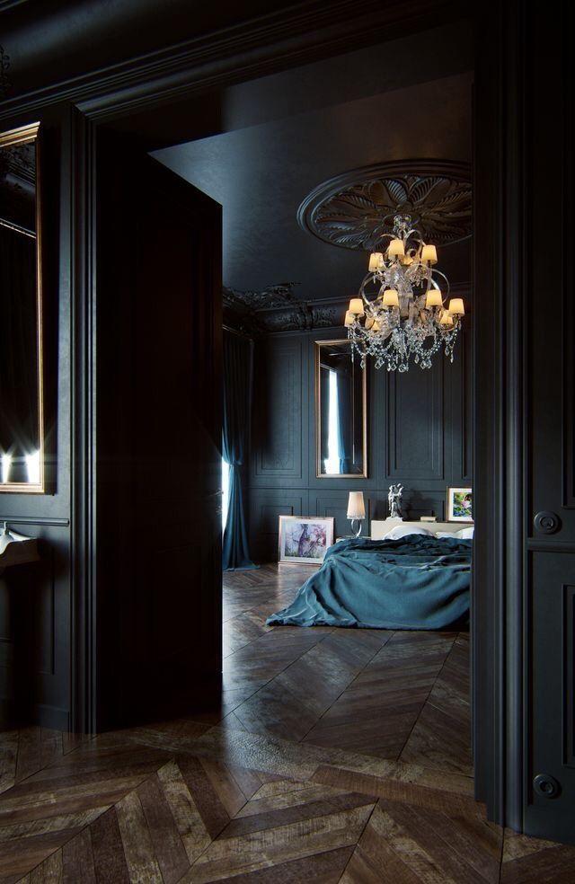 Paint It Black Modern Bedroom Bedroom Design Bedroom