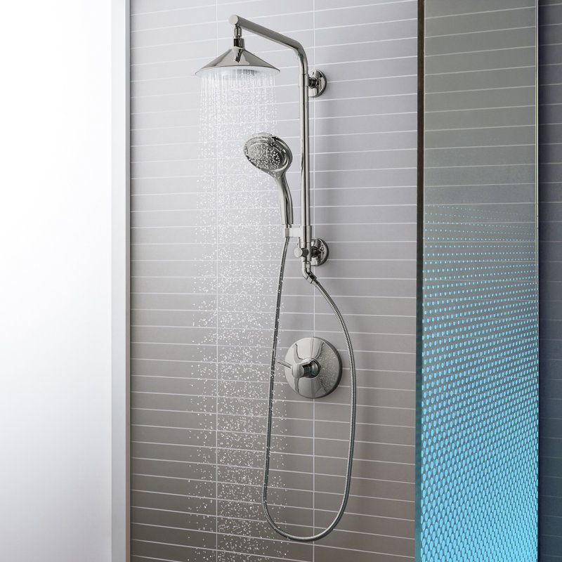 Kohler Moxie HydroRail Custom Shower System CP Polished Chrome Moxie ...