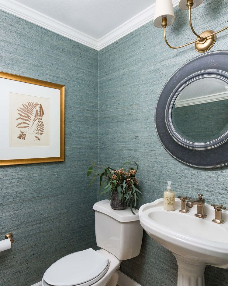 Before And After A Coastal Style Dining Room And Foyer Makeover Designed In 2020 Powder Room Decor Craftsman Style Kitchens Kitchen Bathroom Remodel