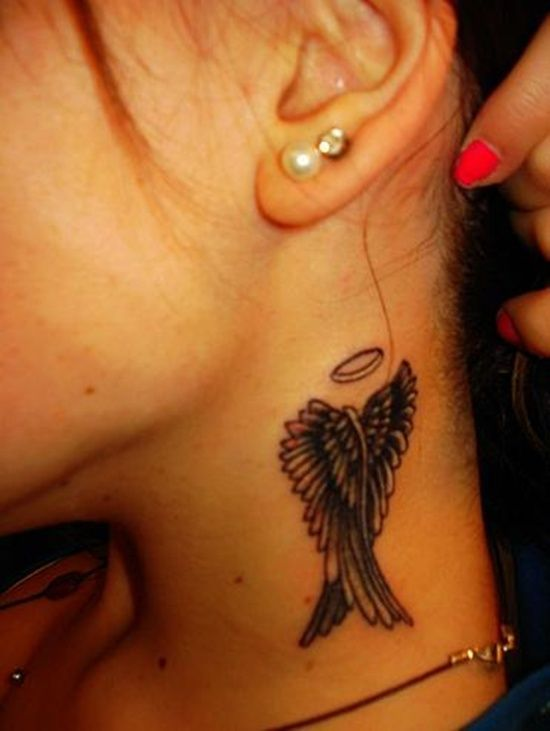 29a0e6b91e020 Wings Tattoo Design: Unique Wings Tattoo Design For Girl On Neck ~ Cvcaz  Tattoo Art Ideas ~ Tattoo Design Inspiration: