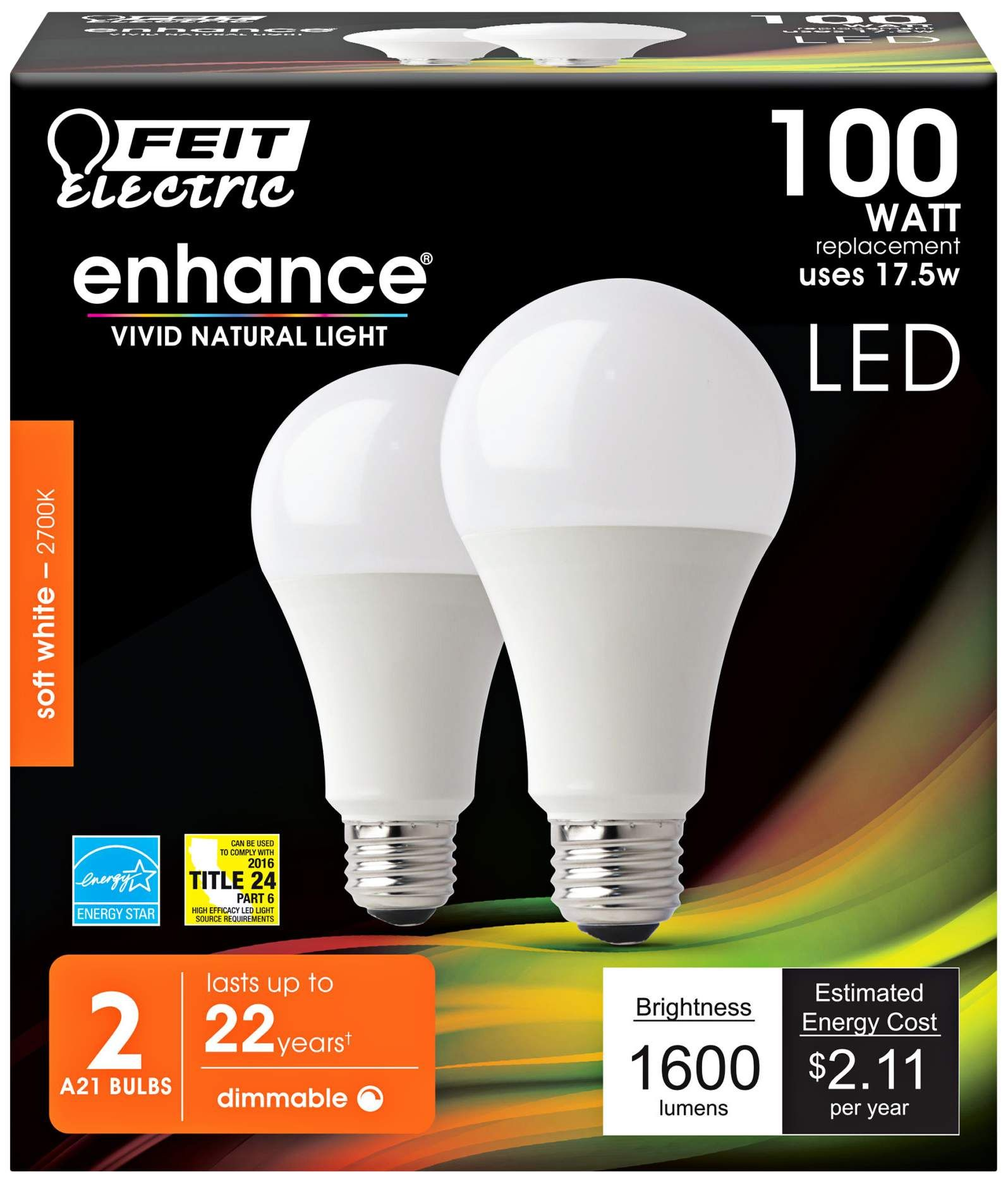 Light Bulbs 100w Equivalent 17 5w Led Dimmable Bulb 2 Pack Bulb Light Bulbs Led Light Bulb