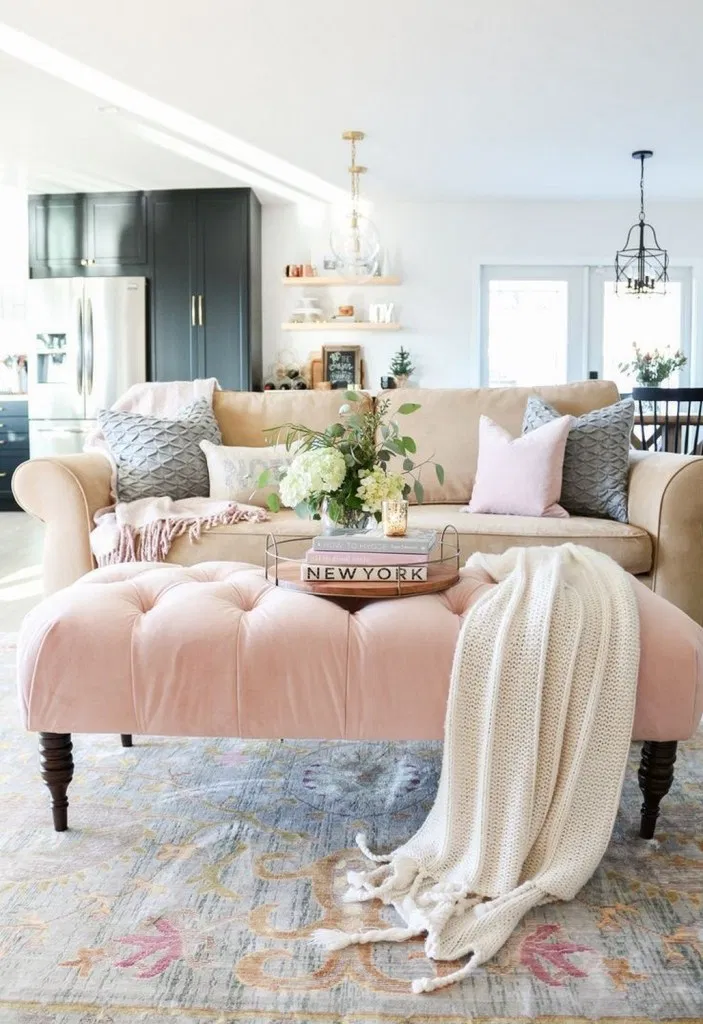 39 Undoubtedly Elegant Pink Living Room Ideas » beloveleey ...
