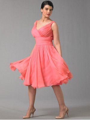 Pinkes chiffon kleid