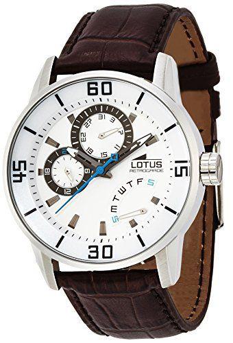 d193cdb4f Lotus 15798/1 - Reloj analógico de cuarzo para hombre con correa de piel,  color marrón