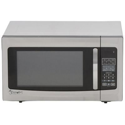 Magic Chef 1 6 Cu Ft Countertop Microwave In Stainless Steel