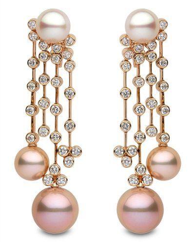 Yoko london pearl and diamond chandelier earrings via mes bijoux yoko london pearl and diamond chandelier earrings via mozeypictures Image collections