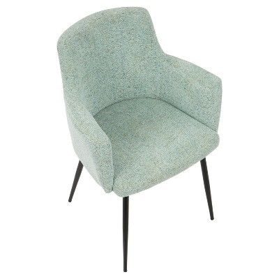 Andrew Contemporary Dining Accent Chair Seafoam Green