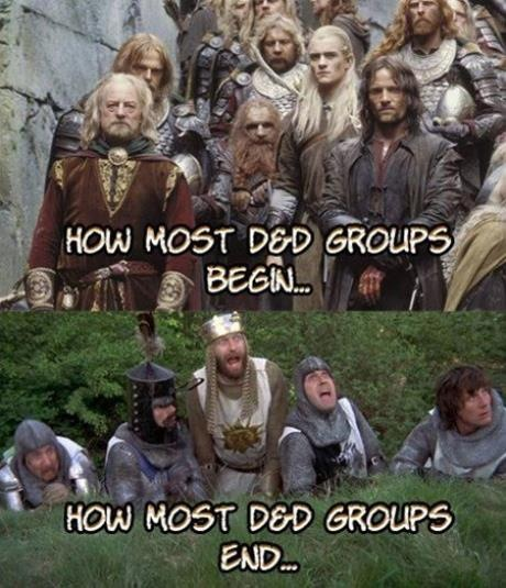 How most D&D groups begin, but... | Dungeons and dragons memes, Nerd humor,  Dragon memes